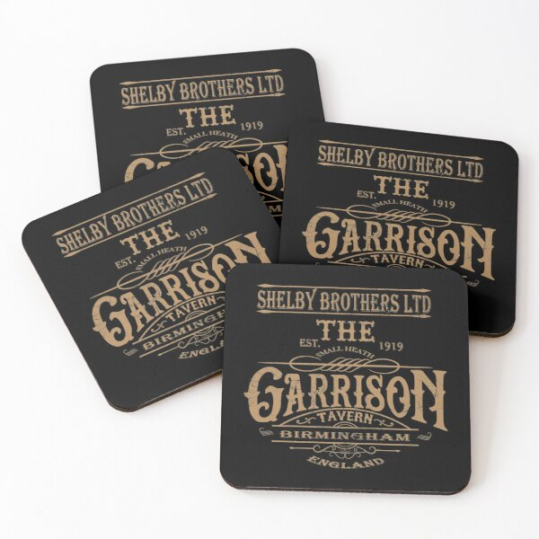 Vintage Garrison Tavern The Blinders Birmingham - Distressed for Vintage Look - Professional Quality Graphics Coasters (Set of 4)