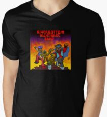 Fluss-unten-Albtraum-Band T-Shirt mit V-Ausschnitt