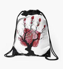 The Black Hand Drawstring Bag