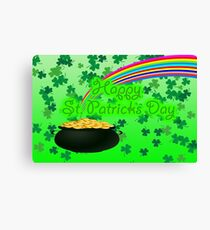 Happy St Patrick`s Day Canvas Print