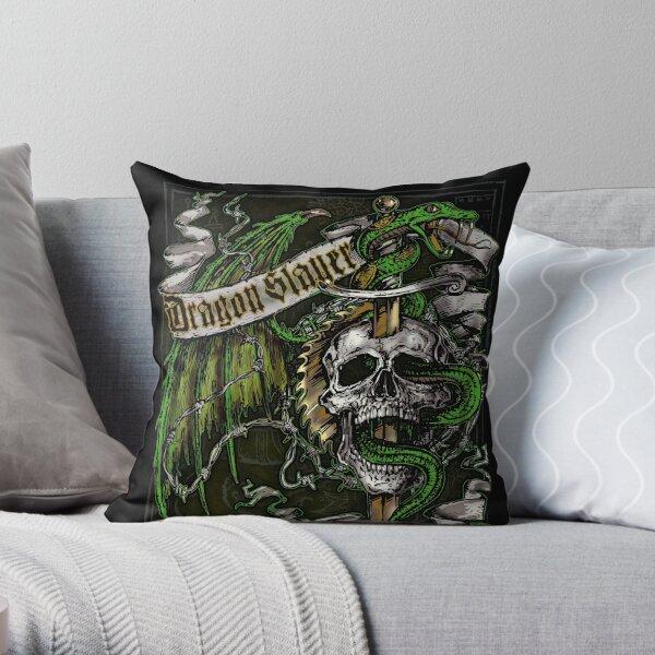 Dragon Slayer Elite Crest Throw Pillow