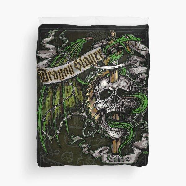 Dragon Slayer Elite Crest Duvet Cover