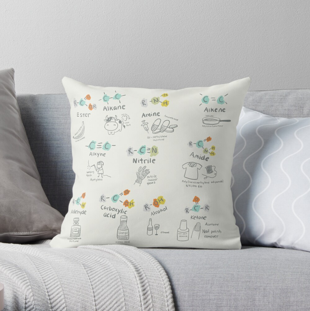 Molecules of Life Throw Pillow