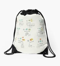 Molecules of Life Drawstring Bag