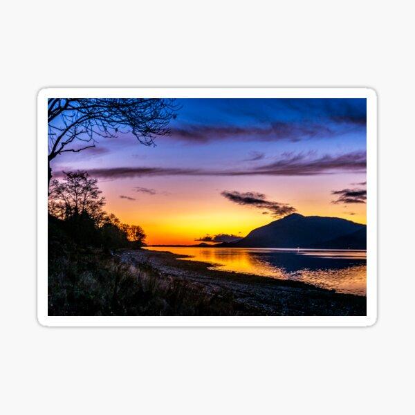 Blue Hour in Lochaber Sticker