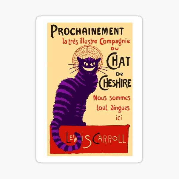 Chat de Cheshire Sticker