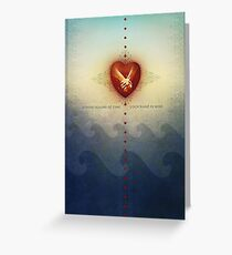 Across Oceans of Time Greeting Card