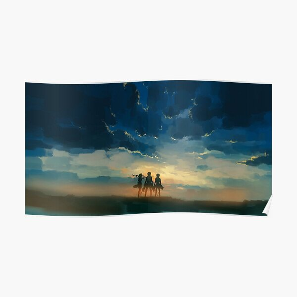 Attack on Titan Painting Poster