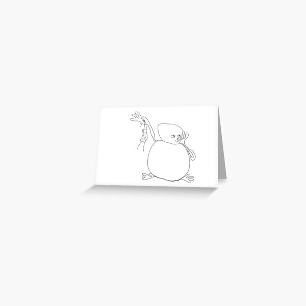 funny COVID-19 related  illustration Greeting Card
