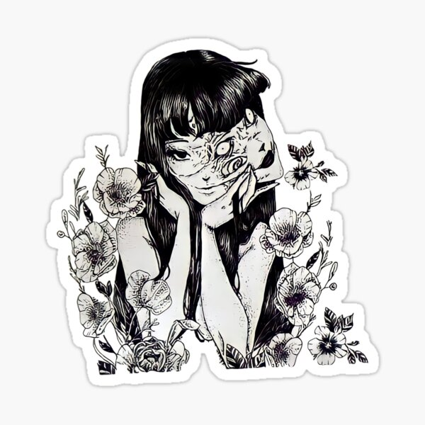 Tomie Junji Ito Unique Art Sticker
