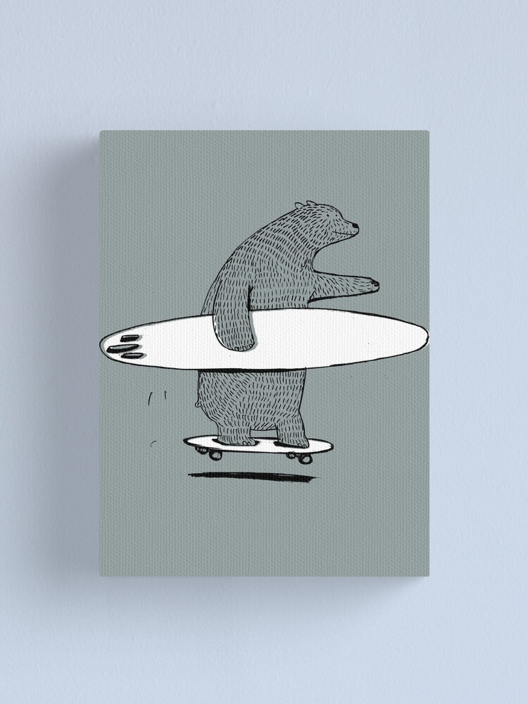 Alternate view of Going Surfing Canvas Print