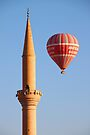Minaret with Balloon by Carole-Anne
