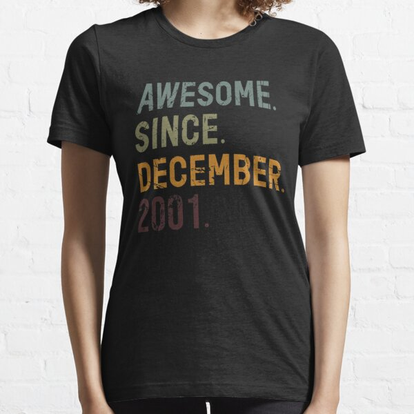 54th Birthday 54 Year Old Birthday Awesome Since December 1966 Funny Cute Family Gift Ideas For Or From Mom And To Dad T Shirt By Ilyas Art Redbubble