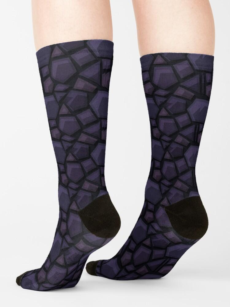 Alternate view of Obsidian Nether Portal - PureBDcraft Socks