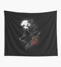 Red Walking Misfits  Wall Tapestry