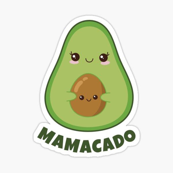 Mamacado pregnancy avacado Sticker