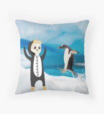 luke penguin Throw Pillow