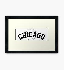 Chicago Basketball [BLACK] Framed Print