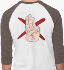 Three Finger Salute Men's Baseball ¾ T-Shirt