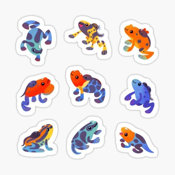 Poison dart frogs - dark Sticker