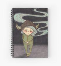 Sad Little Gnome Girl Spiral Notebook