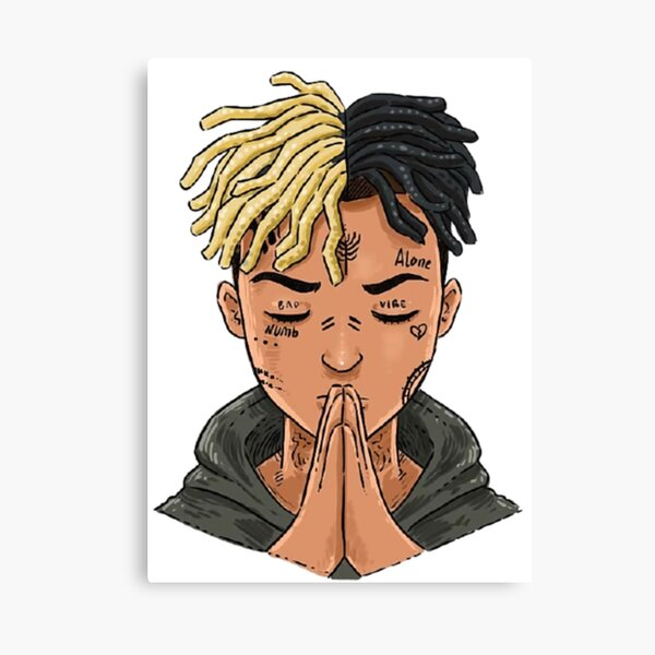 XXXTentation draw cartoon RIP legend Rap Impression sur toile