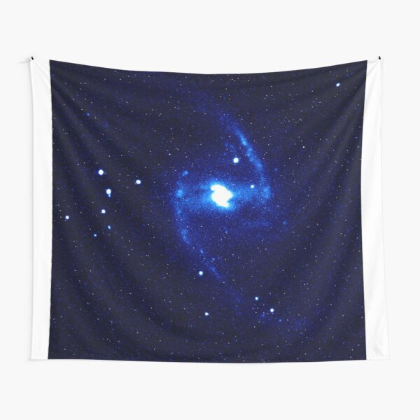 Great Barred Spiral Galaxy - Blue Light Tapestry