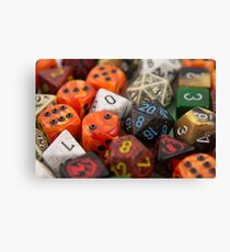 Fire and Blood Dice Canvas Print