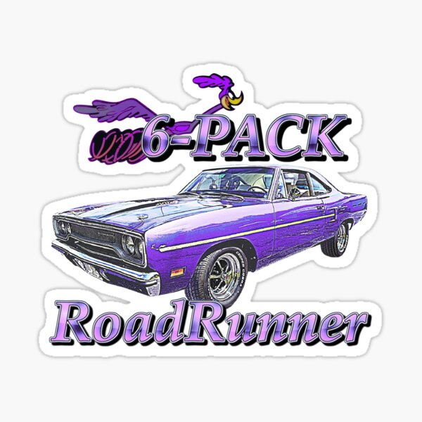 Roadrunner 6 pack American Muscle Classic Car Sticker