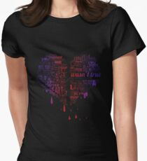 Heartbroken Typography Womens Fitted T-Shirt