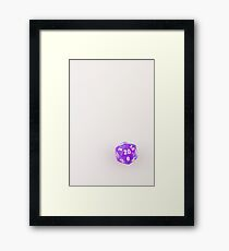 Marbled Purple D20 Framed Print
