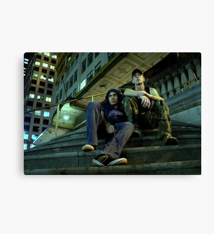 Dave & Johnny Canvas Print