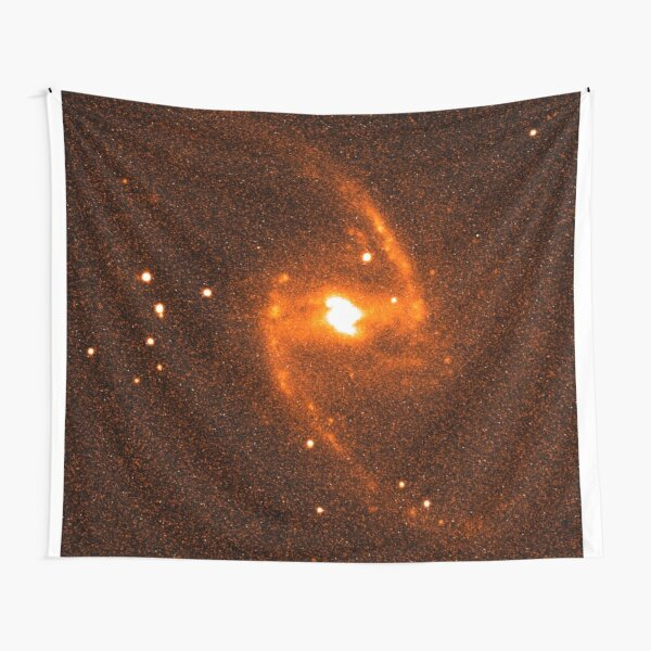 Great Barred Spiral Galaxy Red Light Tapestry