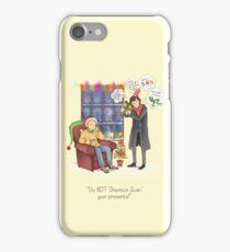 Sherlock's Santa Scan iPhone Case/Skin