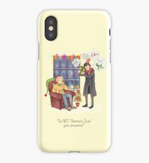 Sherlock's Santa Scan iPhone Case