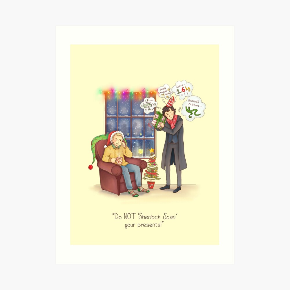 Sherlock's Santa Scan Art Print