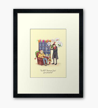 Sherlock's Santa Scan Framed Print