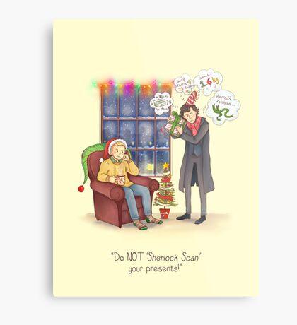 Sherlock's Santa Scan Metal Print