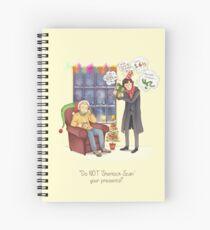 Sherlock's Santa Scan Spiral Notebook