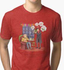 Sherlock's Santa Scan Tri-blend T-Shirt
