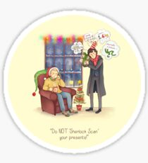 Sherlock's Santa Scan Sticker
