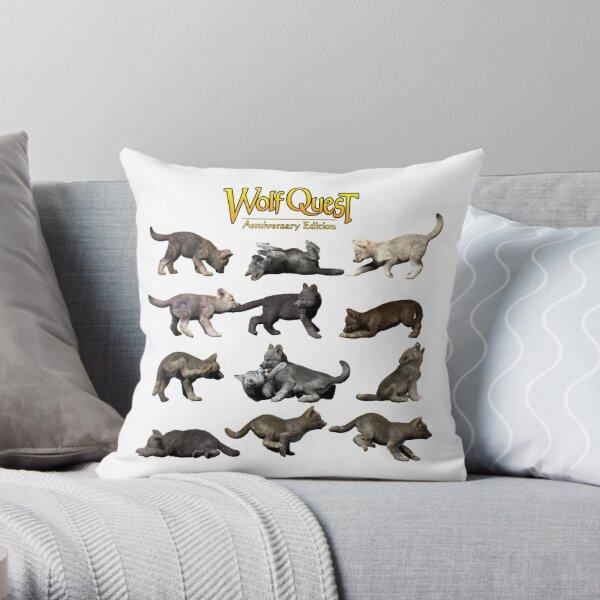 Pup Pandemonium Throw Pillow