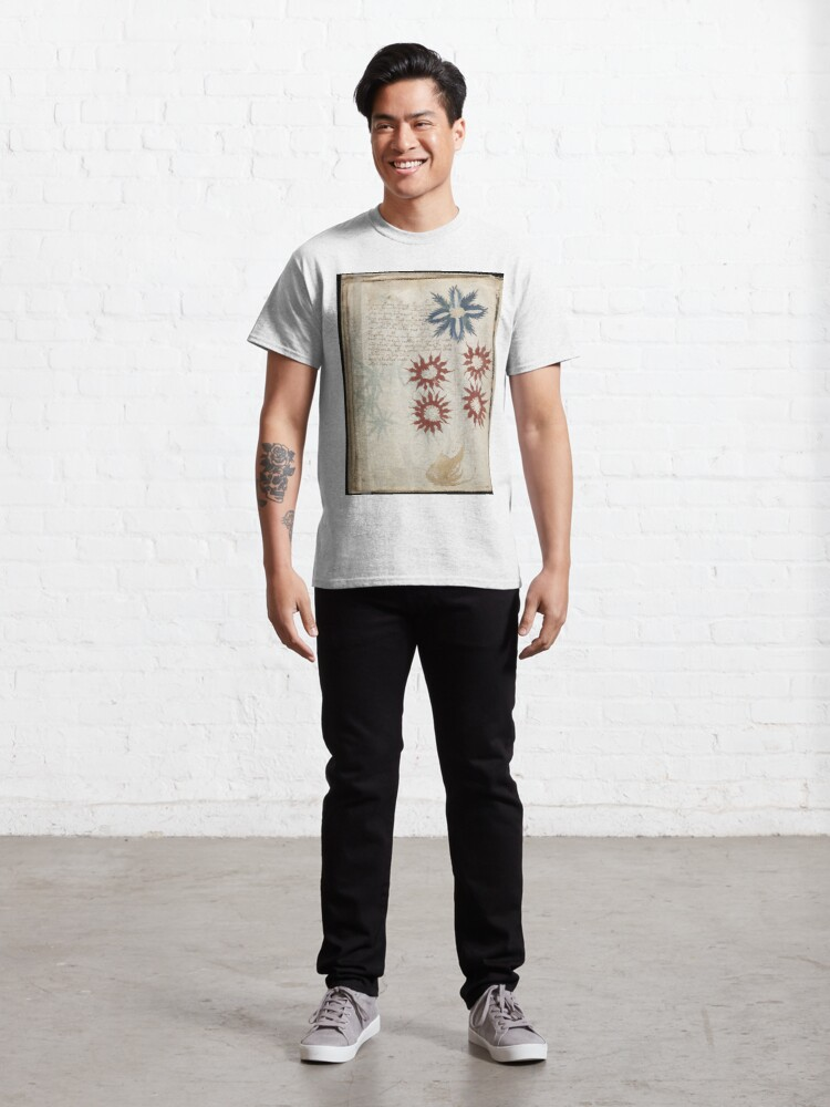 Alternate view of Voynich Manuscript. Illustrated codex hand-written in an unknown writing system Classic T-Shirt