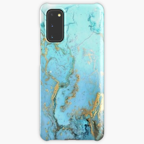 Blue&Gold Marble 2 Samsung Galaxy Snap Case
