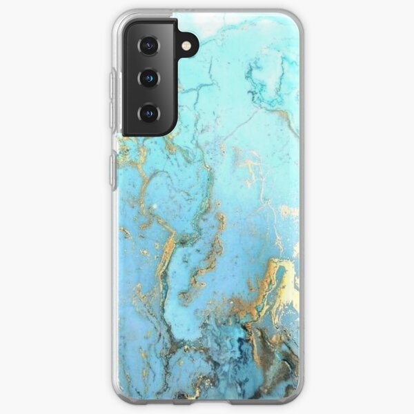 Blue&Gold Marble 2 Samsung Galaxy Soft Case