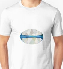 Rugby Ball Isolated Low Polygon Unisex T-Shirt