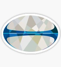 Rugby Ball Isolated Low Polygon Sticker
