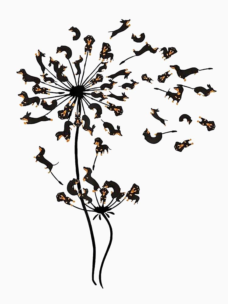 Dachshund Dandelion by Isabellchas