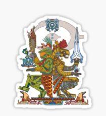 "Halo Inspired Maya design ""Gods Among""  Sticker"