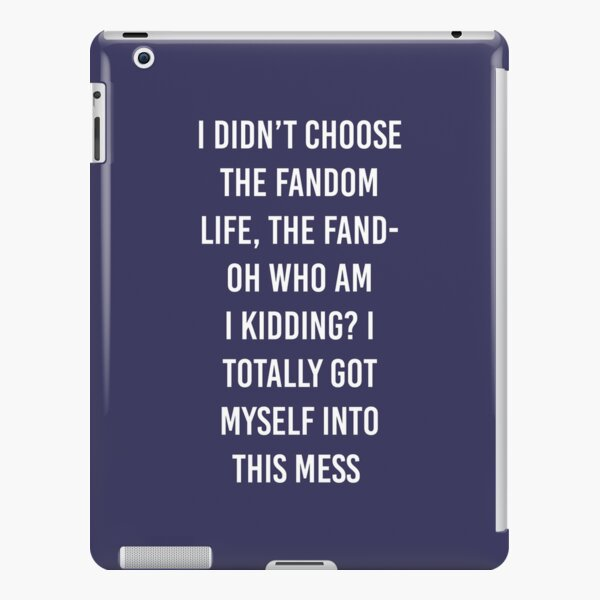 Fandom Life iPad Snap Case